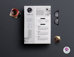 Modern 2 Page Resume Template Resume Templates Creative Market