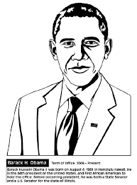 Small Picture Barack Obama Coloring Page chuckbuttcom