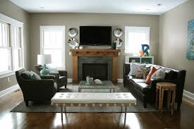 Long Living Room With Fireplace In Middle Living Room Decoration