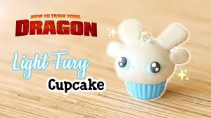 Clay Light Fury Light Fury Cupcake Polymer Clay Tutorial How To Train Your Dragon
