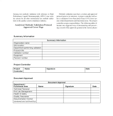 Template Validation Plan Templates Sample Method Template Free