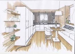 Drawing for interior design Homes Floor Plans