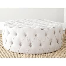 round fabric ottoman. Brilliant Ottoman Inspiration Of Round Tufted Ottoman And Fabulous Upholstered  Jute Beige Button Inside Fabric O