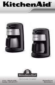 kitchenaid coffeemaker kcm222 user guide manualsonline com coffee makers cafetiÈres cafetera