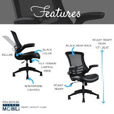office chair controls. Stylish Mid-Back Mesh Office Chair With Adjustable Arms Controls