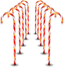 Candy Cane Lights 3 Pack Maoyue Candy Cane Lights 10 Pack Outdoor Lighted Candy Canes 27in Christmas Pathway Lights With 8 Lighting Modes Waterproof Candy Cane Decorations