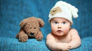 Cute baby and toy bear 1125x2436 iPhone ...