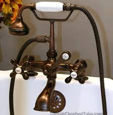 cast iron tub faucet telephone w hand held shower 2 replacing