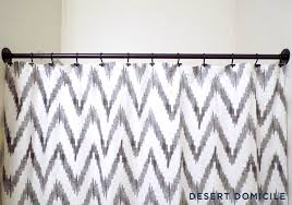 diy pipe shower curtain rod desert domicile interdesign curved matte black
