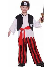 Budget Boyu0027s Pirate Costume Front View Buccaneer Pirate Budget Boys Costume