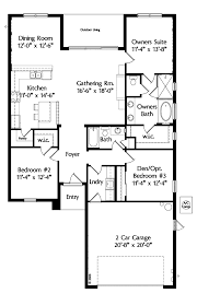house plans one level story home