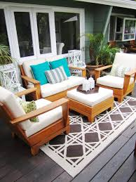 rectangular outdoor rug deck contemporary with potted plants synthetic outdoor rugs