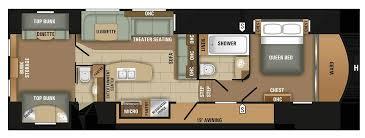 fifth wheel rv floor plans unique floor plans 46 luxury bunkhouse travel trailer floor plans sets