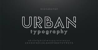 Abstract Digital Technology Modern Alphabet Fonts Vector