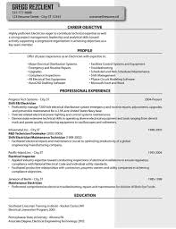 Resume Examples Electrician Examples Of Resumes