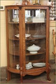 antique brown wooden glass door display cabinets