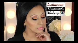 insram summer orange makeup look using jaclyn hill palette w nelly toledo