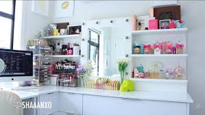 shaaanxo beauty collection makeup storage unit