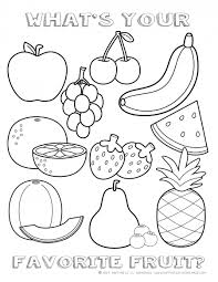 Free Fruit Coloring Page Happiness Is Homemade Teacher Time