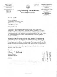 Letters From Members Of Congress To The Department Of Labor
