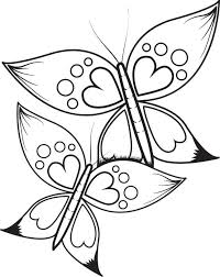 Small Picture Free Printable Butterflies With Heart Wings Coloring Page for Kids