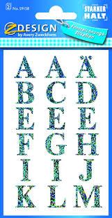 Avery Zweckform 59158 59158 Home Buchstaben Transparent Folie