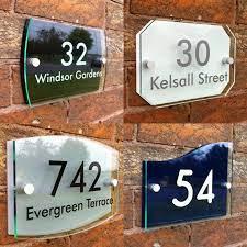 personalised modern house sign door