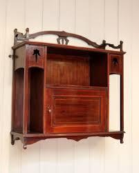 antique edwardian mahogany wall cabinet