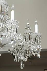 irish crystal chandelier with nine arms six arms are lights with crystal bobeches with hanging