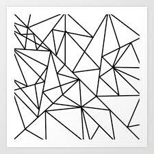 Abstract Art Black And White Patterns Black White Modern Abstract Geometrical Pattern Art Print By Pink_water