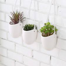 interior com mygift modern ceramic hanging planters succulent plant wall planter cool home depot hanging wall