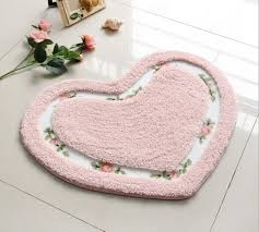 heart shape carpet living dining bedroom area rugs slip resistant suede floor mats washable bathroom carpet