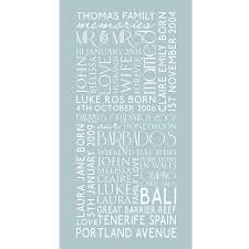 Duck Egg Blue Kitchen Utensils Personalised Family Best Memories Canvas By Cherry Pete