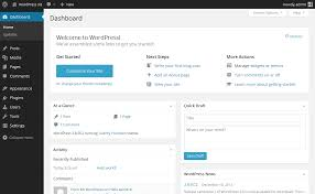 how to make a website step by step guide for beginners wordpress default dashboard