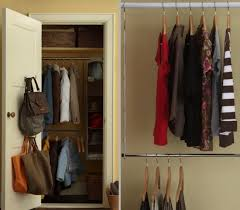 diy closet organizer double rod
