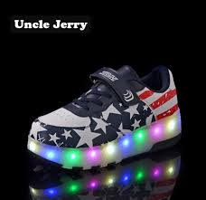 Big Kids Light Up Shoes Us 25 01 47 Off Unclejerry Size 27 43 Kids Led Shoes Light Up Sneakers For Boys Girls Luminous Shoes For Big Kids And Youth Sport Sneakers In