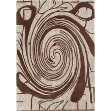 get ations mandara hand tufted brown white abstract wool rug 7 x
