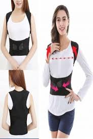 9.79 | Men / Women Adjustable Posture Corrector Back Support Shoulder Brace Belt ❤ #women #adjustable #posture #corrector #back #support #shoulder #