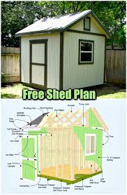 free shed plan 30 and easy diy shed plans