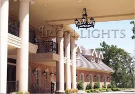 wrought iron outdoor porte cochere chandeliers