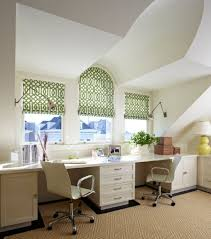 stylish home office space. View In Gallery Lovely Shades Add Color To The Space Stylish Home Office