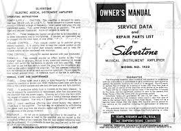 silvertone world division 57 schematics manuals and publications