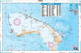 Northern Bahamas Bathymetric Offshore Fish And Dive Chart 120f