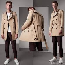 2018 men trench coat classic double ted mens long coat mens clothing long jackets coats british style overcoat s 2xl plus size from fozhewo