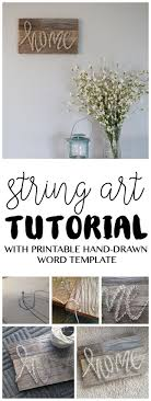 Always wanting to try out a string art project? Here's an easy tutorial  from www