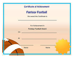 Football Certificate Template Delectable Sports Certificate Templates Free Printable 48 Best Certificates