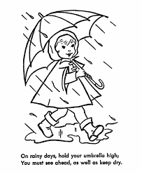 Small Picture Learning Years Child Safety Coloring Page Umbrella Safety