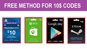 free 10 dollar codes for ps4 xbox pc google