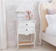 provencal 2 drawer white bedside table tables throughout decorations 15