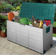 outdoor storage boxes plastic. uk big capacity plastic garden outdoor storage box container shed sheds boxes